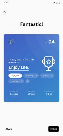 Zen Mode interface