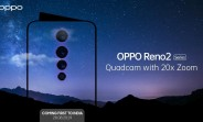 Oppo Reno2 series arriving on August 28 with quad camera and 20x zoom