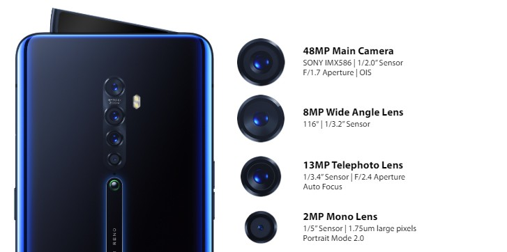 Oppo Reno2, Reno2 Z and Reno2 F announced with quad cameras all around