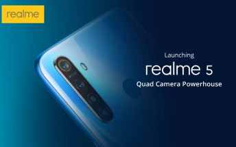 Realme 5, 5 Pro design and key specs revealed
