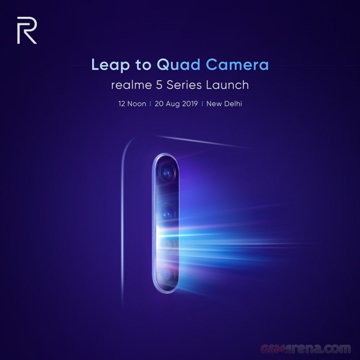 Realme 5 Series Phones To Launch In India on August 20