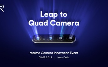 Realme's 64MP quad camera smartphone technology to be showcased on August 8