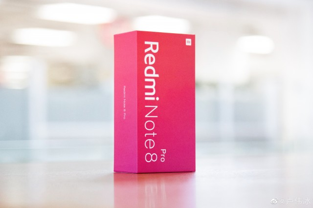 Redmi Note 8 Pro retail box (posted by Redmi GM Lu Weibing)