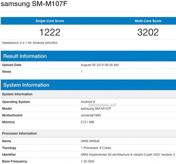 A Samsung Galaxy M10S might be on its way