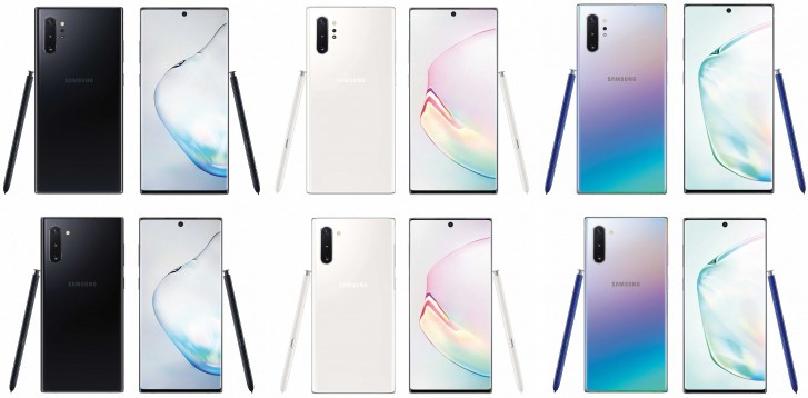 Samsung Galaxy Note10 series to arrive in three colors, leaked renders reveal