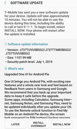 T-Mobile's Samsung Galaxy J7 Star is now tasting Android 9 Pie with One UI