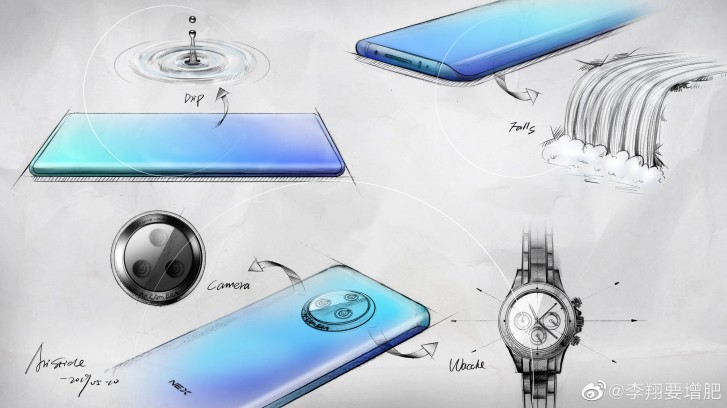 Vivo NEX 3 sketch details design process behind the upcoming flagship