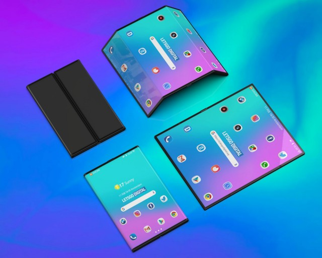 Unofficial 3D renders of Xiaomi's foldable phone
