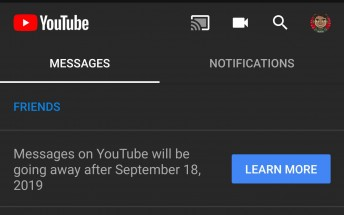 Google to discontinue YouTube messaging on September 18