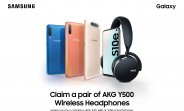 Samsung is offering AKG Y500 headphones with selected Galaxy smartphones