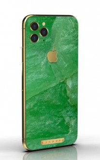 iPhone 11 Pro with jadeite stone