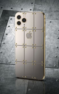iPhone 11 Pro with silver and gold