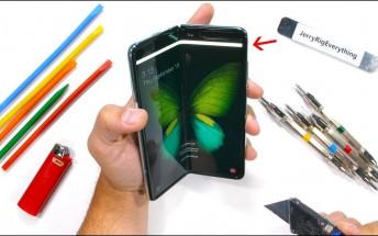 Reworked Samsung Galaxy Fold goes through a durability test