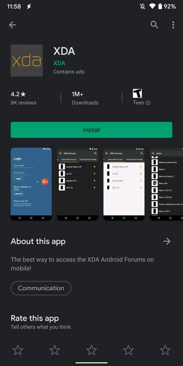 Some Android 10 phones are getting Dark mode for the Google