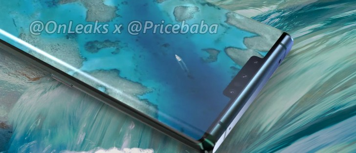 Huawei Mate 30 Pro photo offers a close look at its waterfall screen, new face recognition hardware
