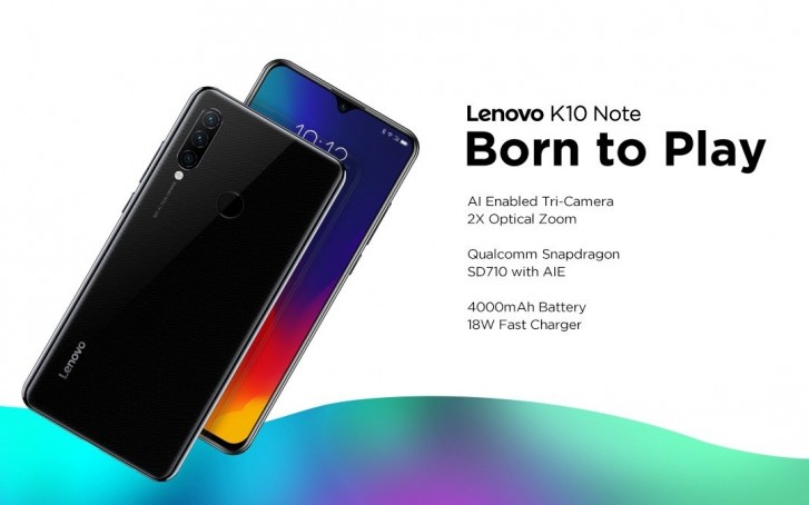 Lenovo Launches Flagship Z6 Pro, K10 Note and A6 Note in India