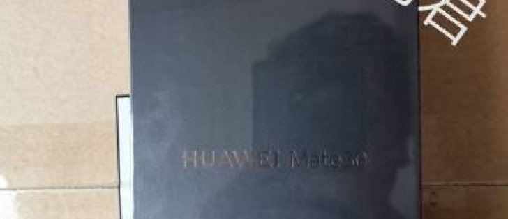 Huawei Mate 30 retail box pictured