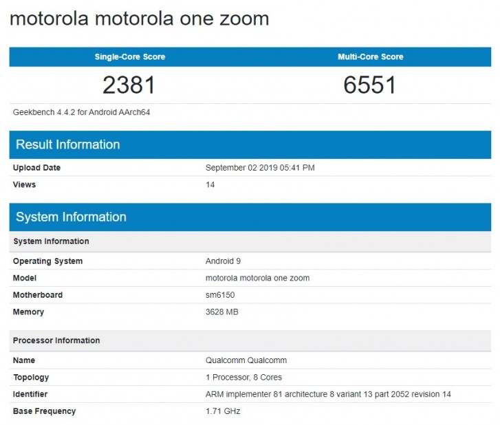 Motorola One Zoom inches closer to launch, appears on