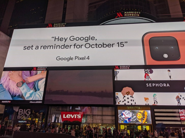 Google confirms Pixel 4's 'coral' color with Times Square ad