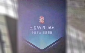 The next clam-shell Samsung will be called W20 5G