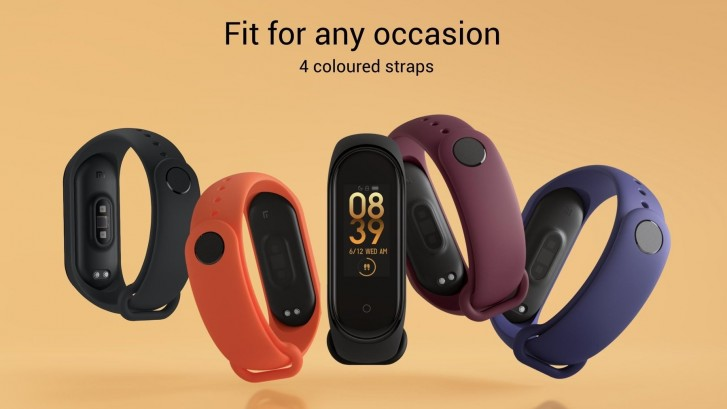 Xiaomi offers four colored straps to choose from