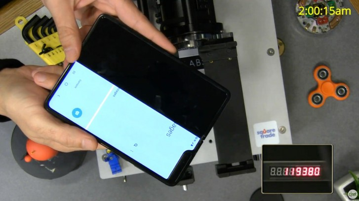 Automated testing shows that the Samsung Galaxy Fold fails earlier than expected