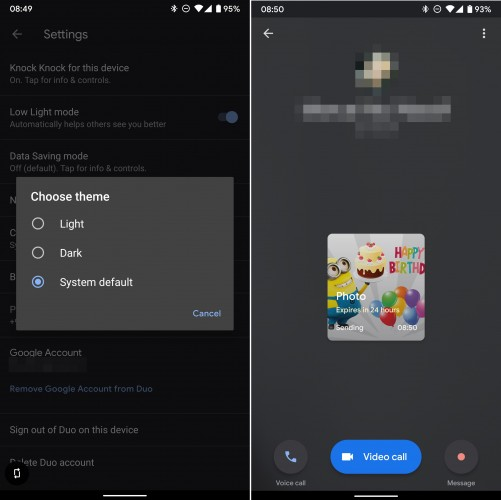 Duo for Android is the latest Google app to get Dark Mode