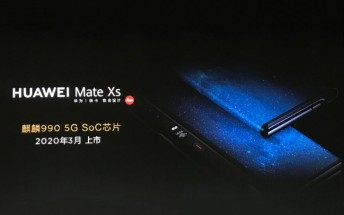 Huawei Mate Xs coming with Kirin 990 5G in March 2020