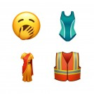 Some of the new emoji in iOS 13.2