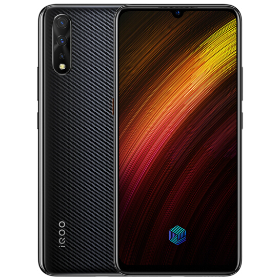 IQOO Neo 855 in Carbon Black and Electro-Optic Purple
