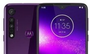 Motorola One Macro leaks in purple gradient with triple rear cameras