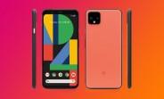Oh So Orange Google Pixel 4 XL shown in renders
