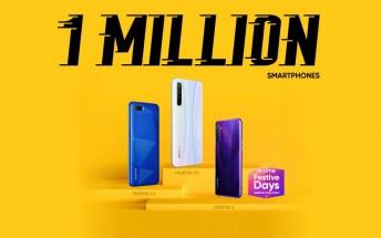 Realme is the top smartphone brand on Flipkart, it sold 1 million phones today
