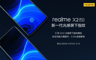 Realme X2 Pro posters, promoting the new features