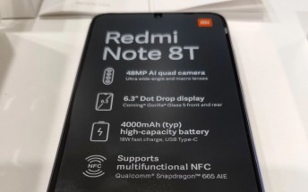 Xiaomi Redmi Note 8T live images appear