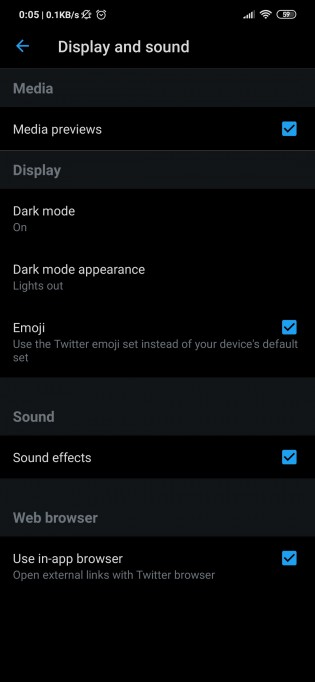The option to enable Lights out is tucked inside 'Dark mode appearance'