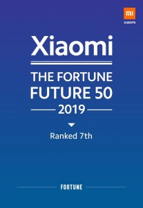 Xiaomi debuts at #7 in Fortune's Future 50 list