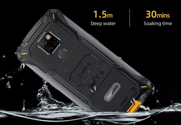 The rugged Doogee S68 Pro has two panes of GG4 over its screen, three cameras on its back