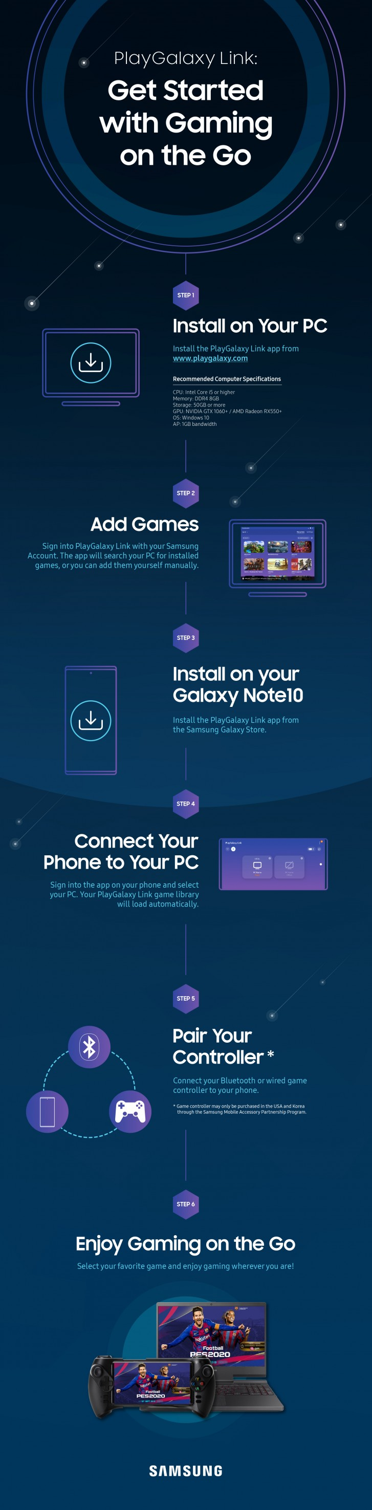 PlayGalaxy Link beta goes live for Galaxy S10 and Note 10 users in select countries
