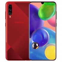 Samsung Galaxy A70s in Dazzling Red color