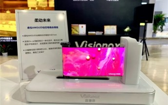 Visionox introduces a foldable clamshell smartphone and rollable OLED panel