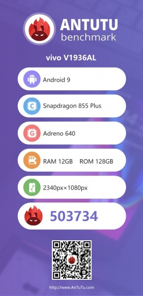 vivo iQOO Neo 855+ appears on AnTuTu with 12GB RAM and FHD+ display