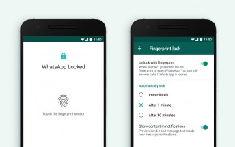 Whatsapp implements fingerprint lock for Android