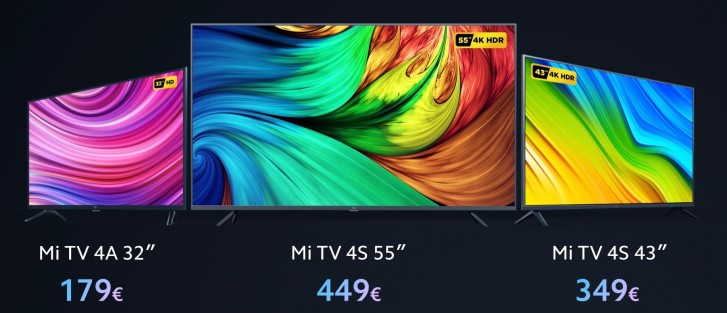 "Xiaomi launches Mi TV 4S in Europe, the 55"" costs €449"