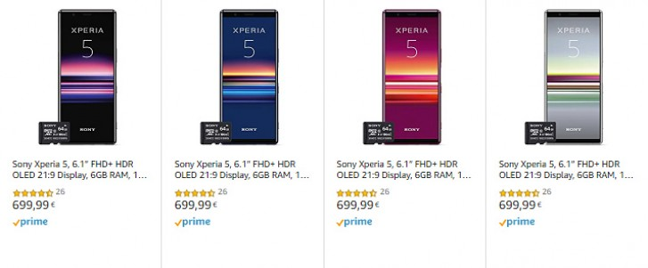 Sony Xperia 5 drops to €700/£550 in Europe