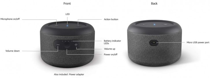 Amazon unveils battery-powered Echo Input Portable Smart Speaker Edition