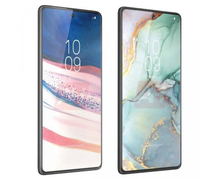 Samsung Galaxy Note10 Lite (left) and S10 Lite (right)