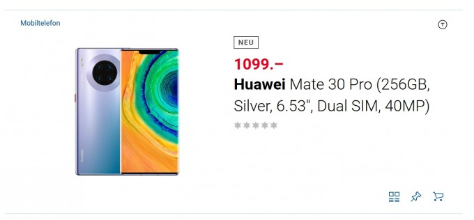 Huawei Mate 30 Pro goes up for presale at major Swiss retailer