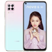 Huawei nova 6 SE in Snow Sky color
