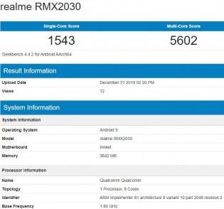 Realme 5i on Geekbench 4